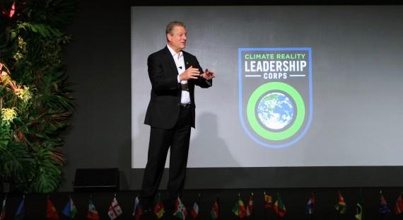 """""""Az éghajlatváltozás ténye nem politikai ügy, hanem valóság"""" - hangsúlyozta Al Gore, a The Climate Reality Project alapítója"""