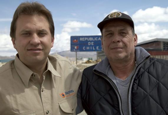 A bolíviai és chilei határon készült pillanatfelvétel