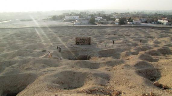 A sírudvar a hegyről - Dra Abu-el Nagabán