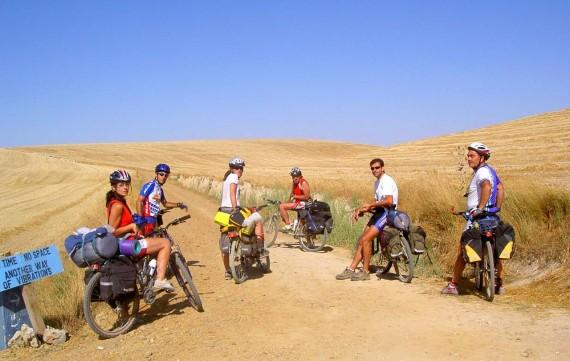 Burgos Hontanas között kerékpáron