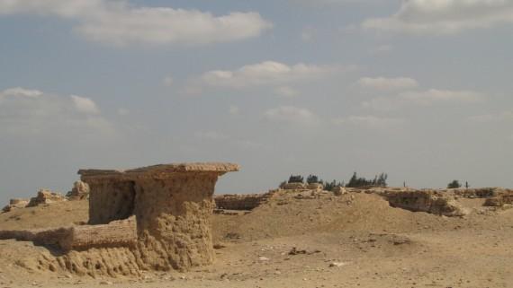 Egy római kori épület -agyagtégla alapozással