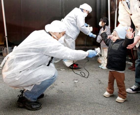 Gyerekek sugárfertőzöttség-ellenőrzése